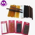 HARMONY 24 Pieces 7.5mm x 100mm hot melt glue stick for fusion keratin bond hair extensions 4 Colors Black Brown Amber and White