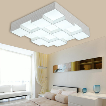 LED Acryl Cube Plafondlamp Thuis Woonkamer Slaapkamer Studie Lamp Business Plaats Interieur Verlichting Plafondlamp AC110-240V