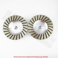2PK 4inch 30 Aluminum Based Diamond Grinding Cup Wheel Diameter 100mm Grinding Wheel For Granite Concrete