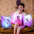 Promoción cambio del Color del Led almohada lindo almohada luminoso muchachas de los bebés de los niños cumpleaños regalo caliente venta