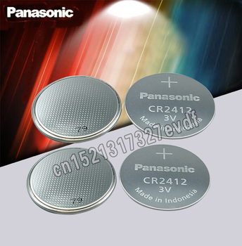 Panasonic Original 4pcs 3V Button Cell Battery CR2412 Lithium Coin watch Key Fobs Battery For swatch watch