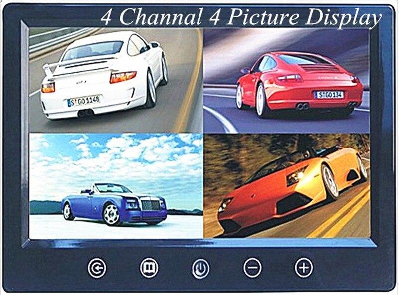 Moniteur LCD TFT 4 canaux 4 canaux 9 pouces pour caméra CCTV