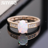 Best Gift Beautiful Romantic Natural Fire Opal 925 Gold Plated Stamp Ring 5colors