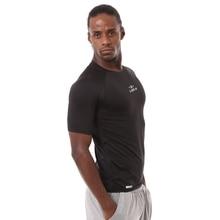 DZ18399 с коротким рукавом мужская одежда компрессионные колготки одежда для тренировок Спорт на открытом воздухе быстросохнущая стрейч-футболка гимнастическая майка 85