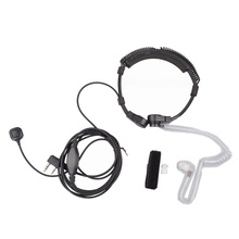 Walkie Talkie Telescopic Extendable Throat Microphone Mic Earpiece Headset for Baofeng UV-82 UV-5R Ham CB Radio