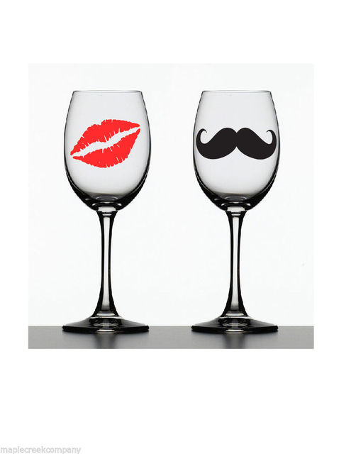 Wallpaper 10 mustaches 10 lips vinyl decal stickers for wedding decoration mugs cups