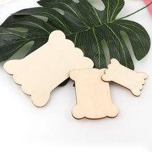 3 rozmiar naturalne kolorowe do DIY drewniane uzwojenia deska w kształcie kości ozdoby do drewna rzemiosła ręcznie robione dekoracje lub dziecko Graffiti