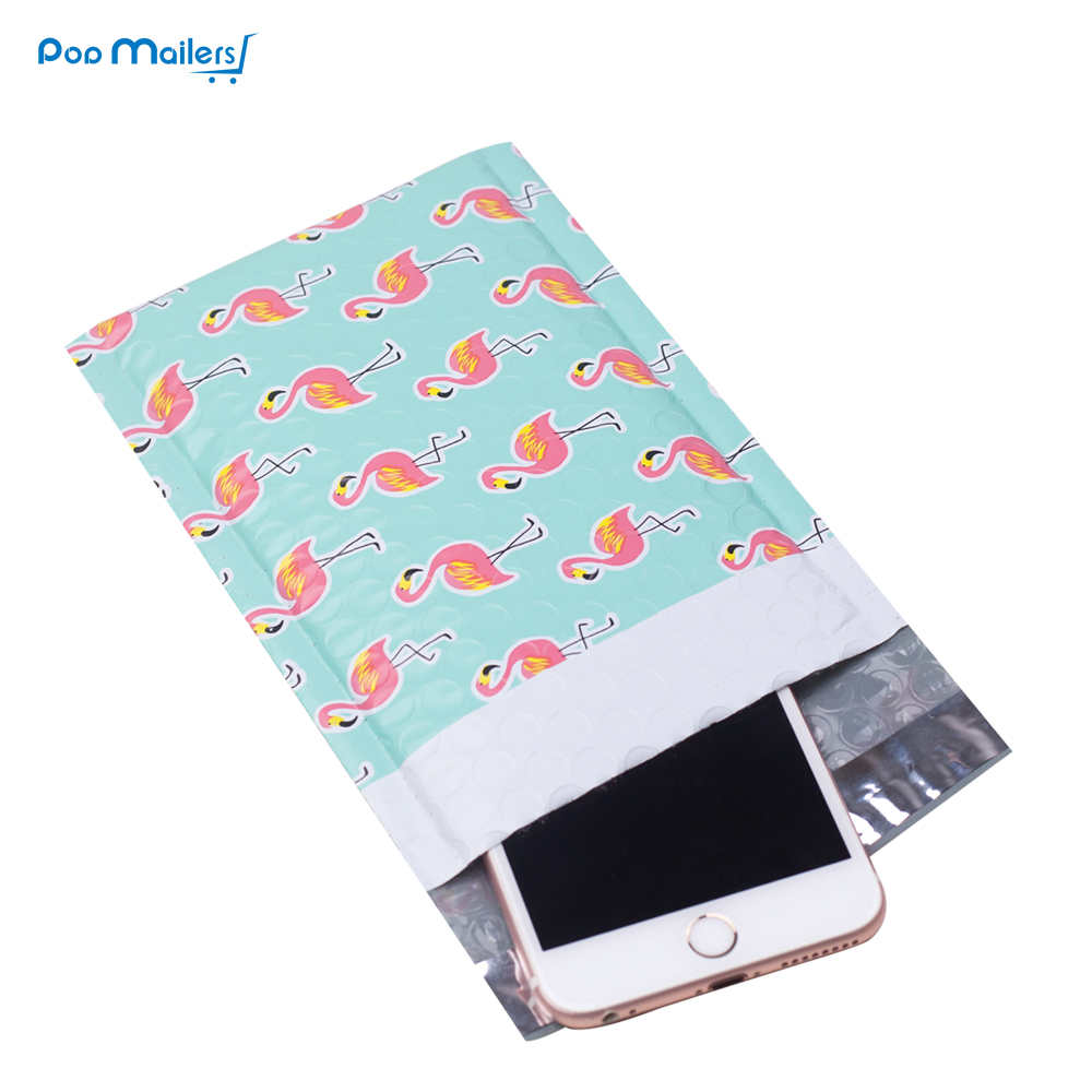 10pcs 4*7inch 120*180mm Flamingo Designer Poly Bubble Mailers Shipping Envelopes Boutique Custom Bubble Bags