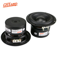 GHXAMP 4 Inch Bass Speaker 4OHM Mid Woofer Subwoofer PP Cap 2.1 PC Multimedia Speaker 2 Way Soundbox 40W 1Pairs