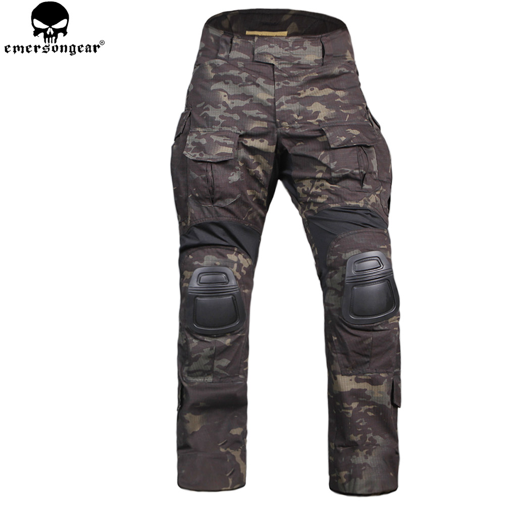 EMERSONGEAR New Gen3 Combat Pants With Knee Pads Wear-resistant Training Clothing Airsoft Tactical Pants Multicam Black EM9351 mgeg militar tactical cargo pants men combat swat trainning ghillie pants multicam army rapid assault pants with knee pads