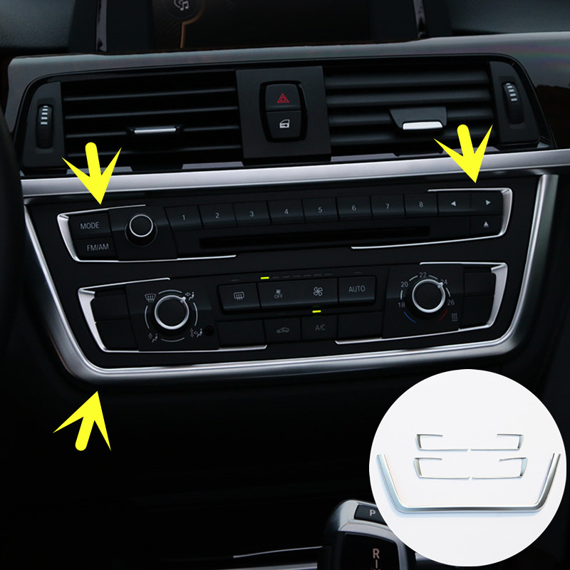 Inner Centre Console Frame & Button Cover For BMW 3 Series F30 320i 328i 2013-2015 5pcs centre speaker