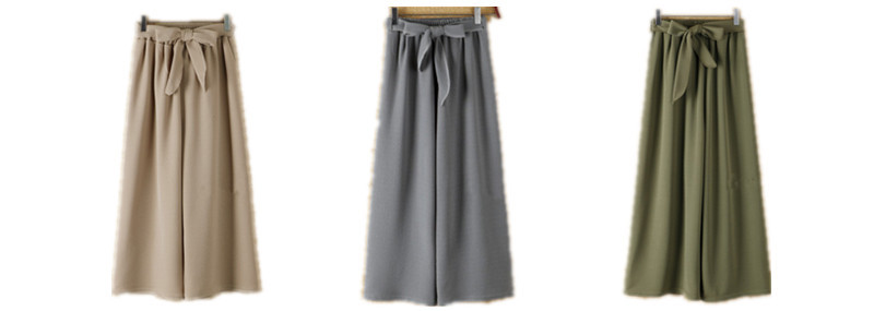 HTB1ulQjTrPpK1RjSZFFq6y5PpXaY - Yanueun Spring Summer Hot Sale Solid Wide Leg Pants Loose Pants Bow Ankle Length Pants Women's High Waist Stylish Loose Pants