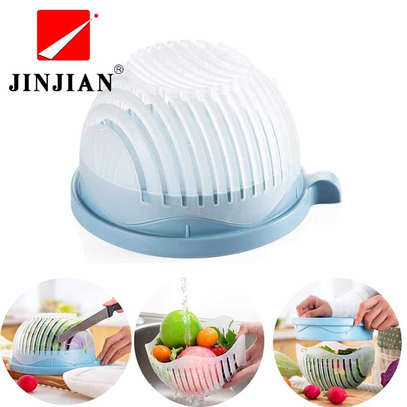 Jinjian 60 s салат резак чаша легко салат чайник инструменты фруктов, овощей Чоппер Кухн ...