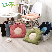 Lovers Back Chair Seat/Back Two-in-one Cushion Kids Home Decor Cartoon Bear Valentine's Day Gift Cute Sponge Plush Pillow Cojine
