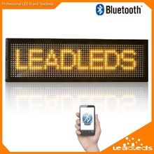 21 inch Length Bluetoth LED Sign Scrolling Message Board Programmable by iphone or usb stick(red/yellow/green/blue optional)