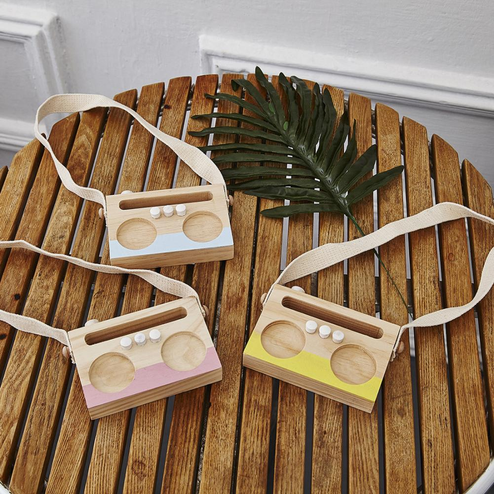 Nordic Style Hanging Strap Radio Ornament Kids Bedroom Decor Photo Prop Gift Fashion