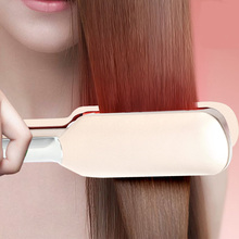 цена на Professional Hair Straightener Curler Hair Flat Iron Negative Ion Infrared Hair Straighting Curling Iron Corrugation LED Display