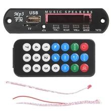 Micro USB мощность TF Радио MP3 декодер аудио доска для автомобиля дистанционного музыкальный динамик Oct18