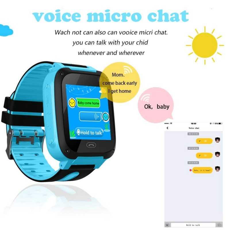 e49af38fe ... Reloj inteligente 2019 Micro tarjeta SIM rastreador de llamadas cámara  para niños alarma de posición antipérdida ...