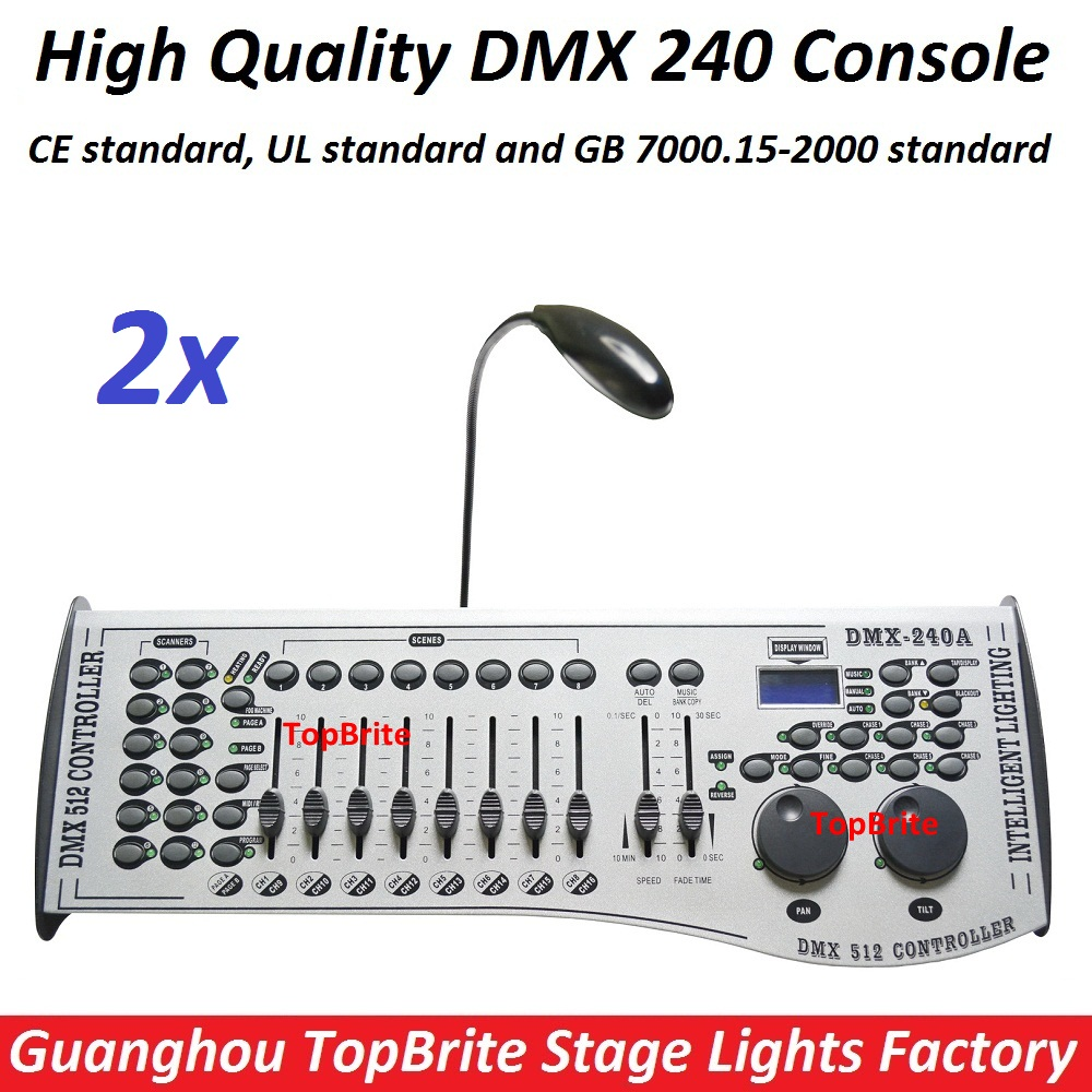 2xLot Free Shipping DMX240 Console DMX 512 Controller 192 Channels Professional DJ Disco Controller Equipment Led Stage Lights free shipping dmx 192 controller cheap