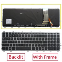 New original US backlit Keyboard With Frame for HP Pavilion ENVY 15 TouchSmart 15 J000 17T J000 15T J000 J029TX J106TX Black