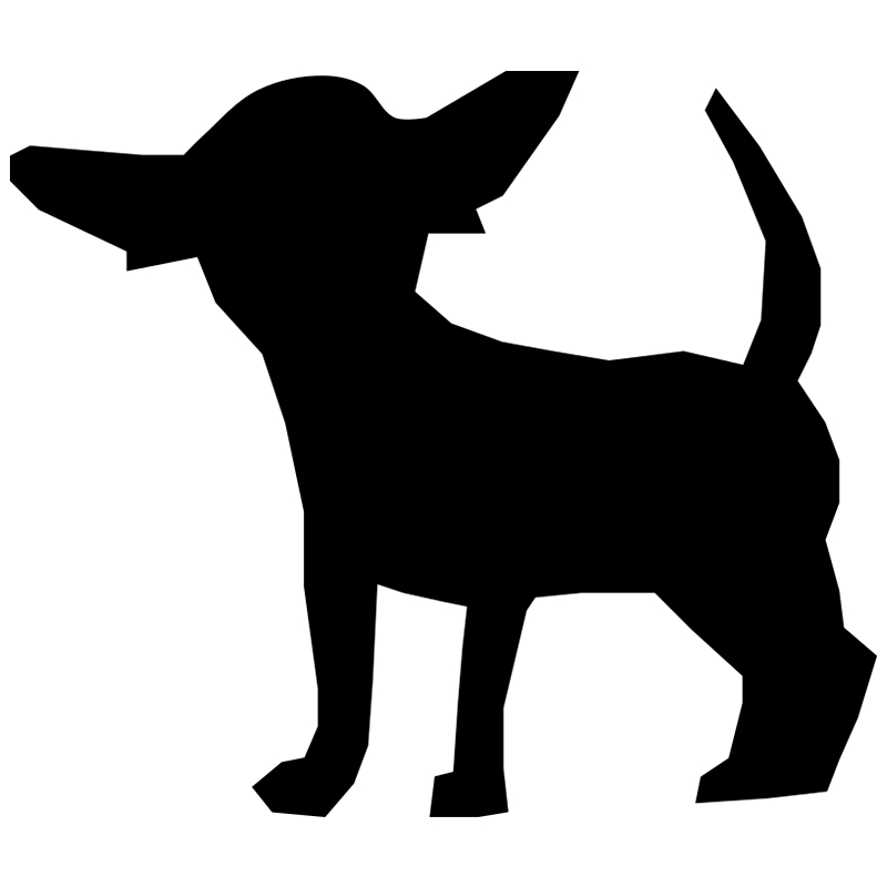 CS-639#15*13cm Chihuahua funny car sticker vinyl decal silver/black for auto stickers styling decoration