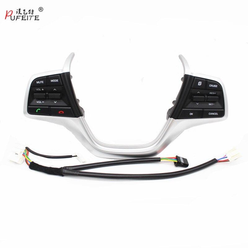 PUTEITE cache de volant Boutons Pour Hyundai Elantra 1.6L Volume Téléphone canal Croisière Contrôleur bouton Interrupteur style de voiture