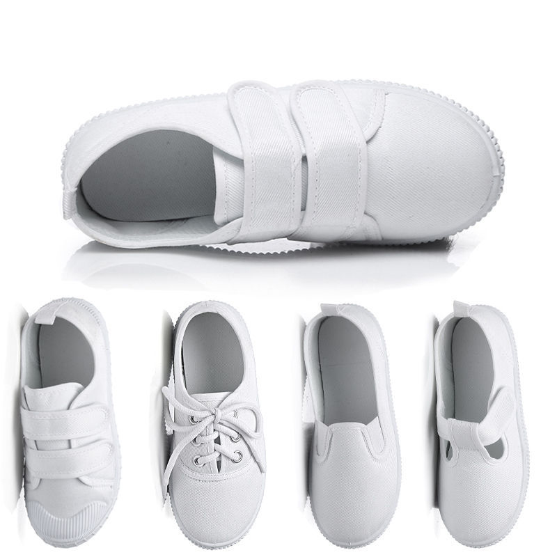940cf02675 White Sneakers Jeans Canvas Kids Shoes Children School Shoes Uniform  Sneakers Toddler Boy Shoes Soft Summer Shose for Baby -in Sneakers from  Mother & Kids ...
