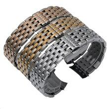18mm 20mm 22mm En Acier Inoxydable Bracelet Bracelet Bande De Montre De Remplacement Argent/Noir/Or Livraison gratuite
