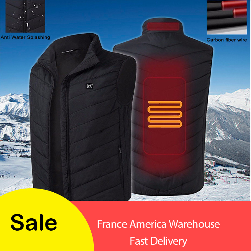 Electric Vest Heated Winter Women's Clothing USB Thermal Warm Cloth Outdoor Hunting Tactical High Neck Vest Gilet Chasse Jacket