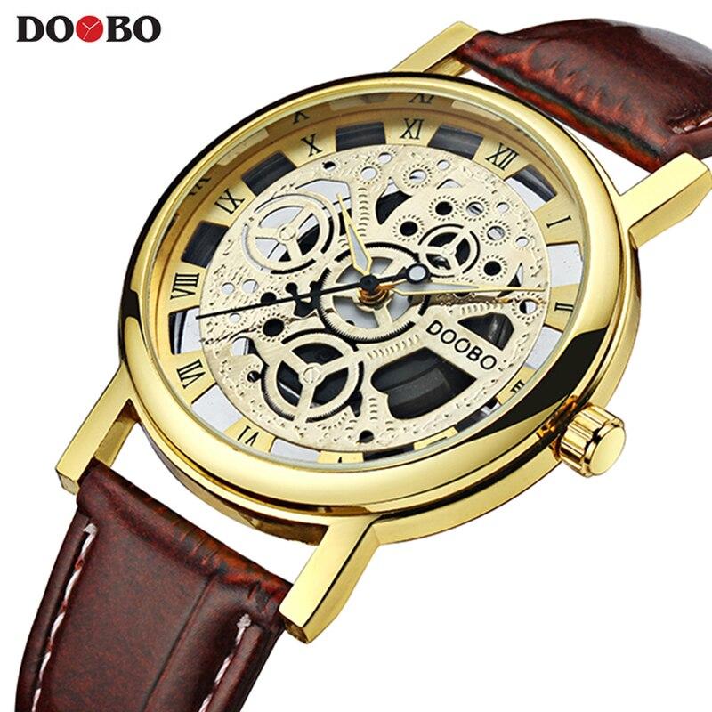 Doobo relojes moda casual reloj hombres Top marca de lujo reloj de cuarzo para hombres hodinky Relogio Masculino