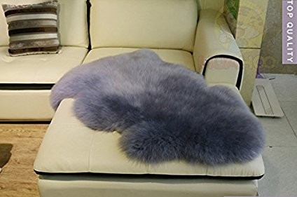 Blue Gray 60x90cm Real Sheepskin Rug Zealand Australian Wool Area Rugs Floor Mat Genuine