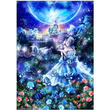 DIY 5D diamond painting landscape flower girl cross stitch mosaic embroidery pattern rhinestone