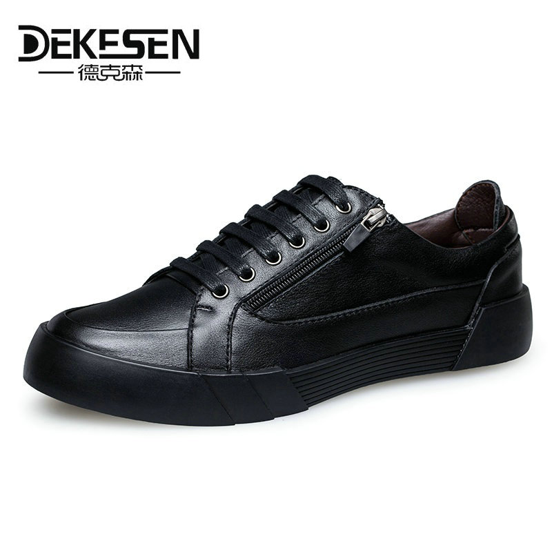 Dekesen Men Casual Shoes Lace-up Cow Leather Male Flats Shoes Breathable Dress Oxford Shoes For Men Chaussure Homme Man Footwear new stylish man shoes lace up round toe comfort breathable shoes for man casual flats loafers chaussure homme free shipping