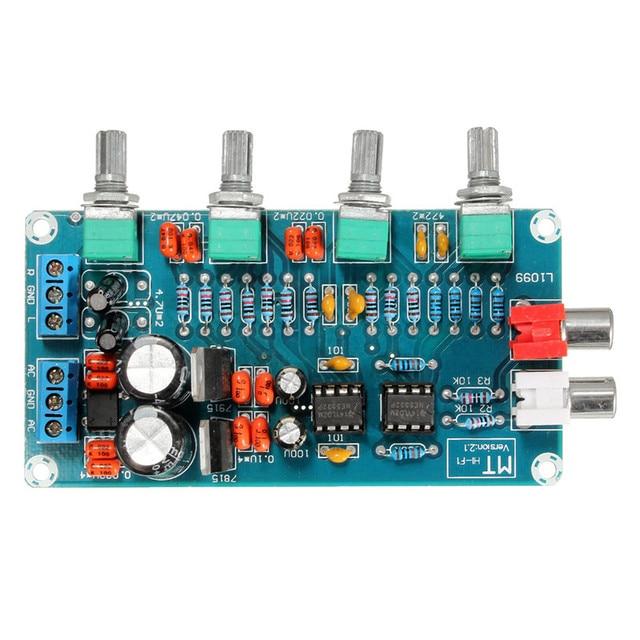 1PC New Arrival NE5532 OP-AMP HIFI Amplifier Preamplifier Volume Tone EQ Control Board DIY Kits