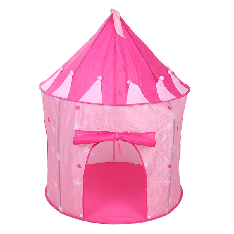 Portable Kids Play Tent Toy Children Girls Princess Outdoor Ball Pool Pit Tent Kids Castle Cubby Play House Toy Tents Kids Gift 3 colors play tent portable foldable tipi prince folding tent children boy castle cubby play house kids gifts outdoor toy tents