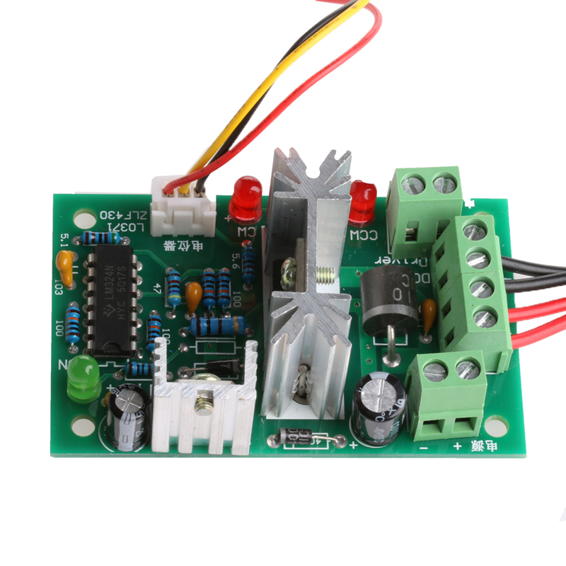 DC Motor Speed Controller Reversible PWM Control Forward/Reverse Switch  10-36V