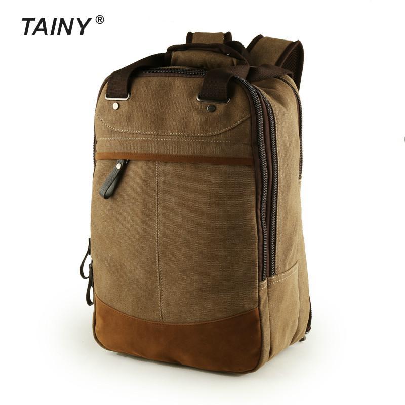 2017 New Canvas Men casual vintage Travel field men's Backpacks T0060 casual canvas satchel men sling bag