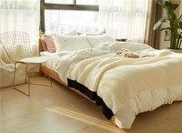 YOOSA теплые однотонные хлопковые нити Одеяло для диван воздуха бросить путешествия Манта Мягкая Одеяло для кровати бросает Флисовое одеяло