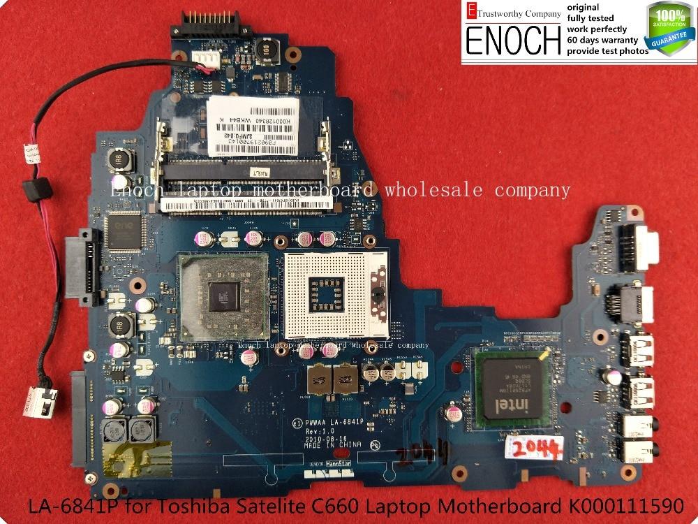 LA-6841P for Toshiba Satelite C660 Laptop Motherboard K000111590 intel PGA478 two months warranty store No.442