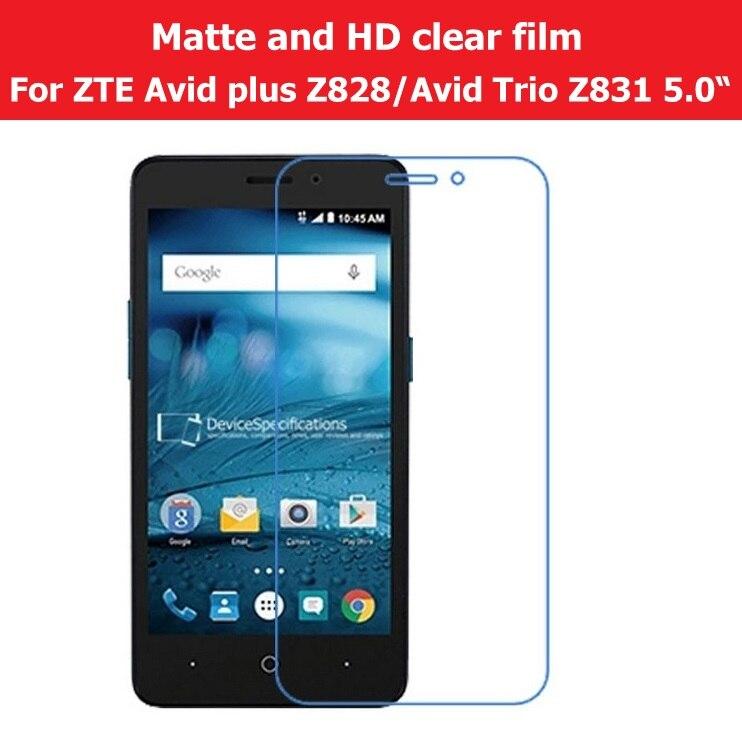 """Anti Glare Matte Film For ZTE Avid Trio Z831 5.0"""" HD Clear"""