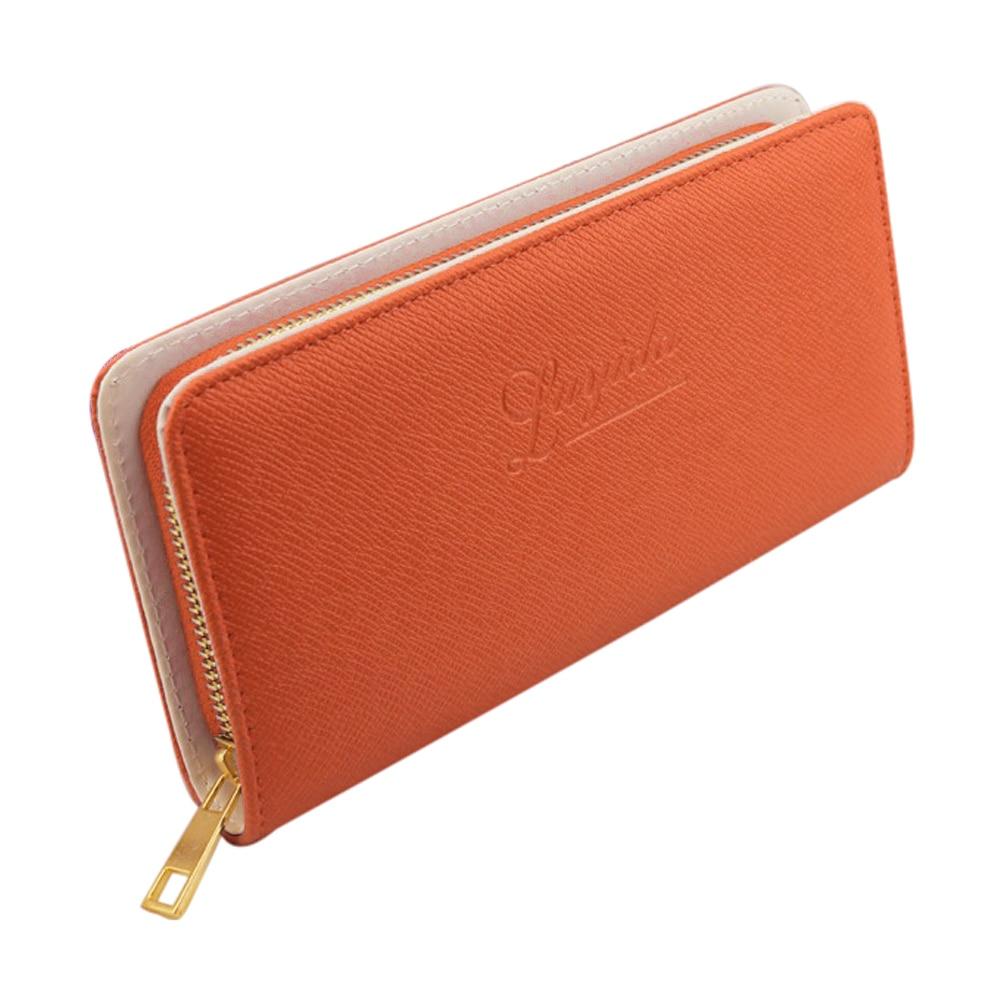 ASDS 2016 Hot sale Women single zipper clutch bag women's wallets purses PU Leather Long Wallets Portable Casual Lady Cash Purse
