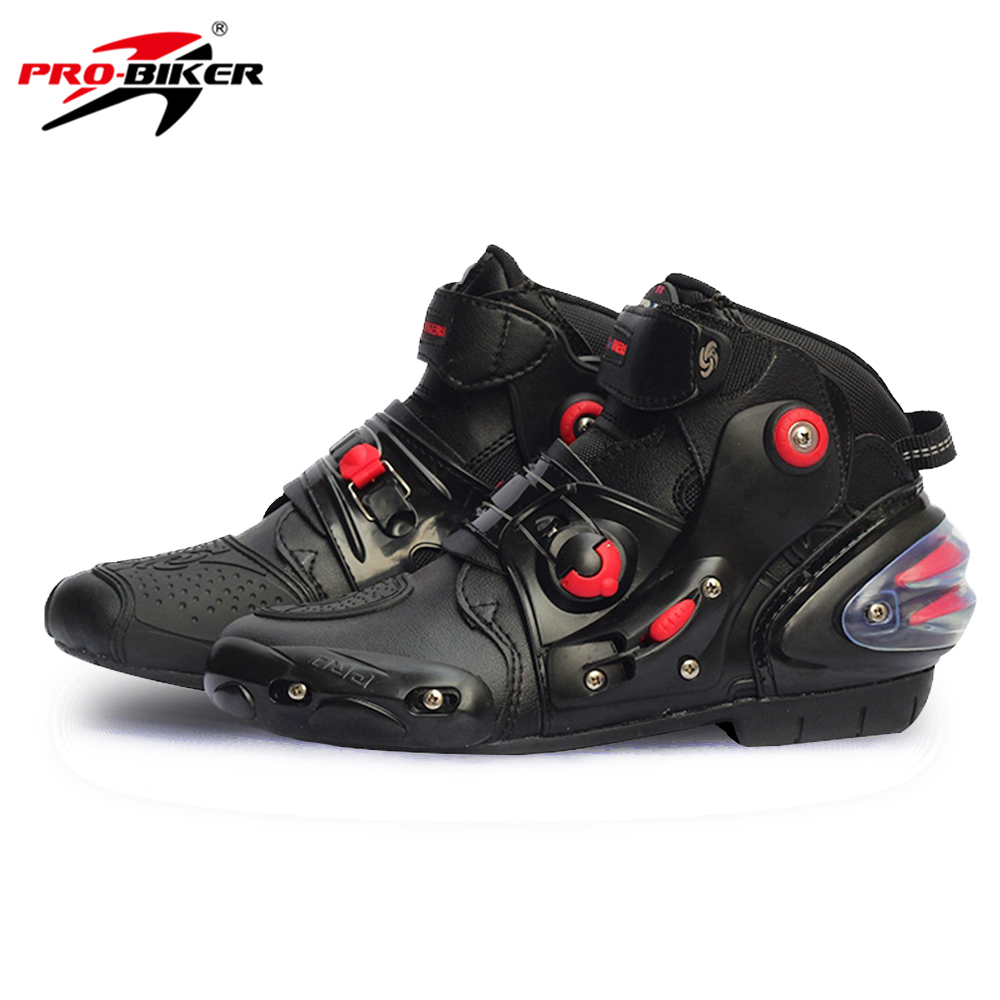 PRO-BIKER Motorcycle Boots SPEED BIKERS Black Men Moto Shoes Moto Motocross Boots Breathable Racing Motorbike Riding Boots 24050100120 сахарница 100 120 автор раб