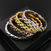 2017 Punk Men Jewelry Love Smooth Simply Watchhand Bracelet Gold Color Silver Big Wide Bracelet Paved Clasps Belt Buckle Bangles