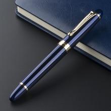 Luxury Jinhao X450 Deep Blue Thin Carven F Twist Nib Fountai