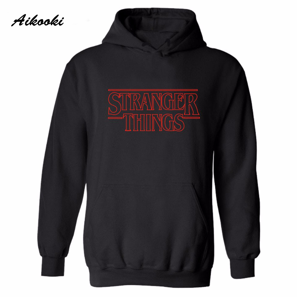 Aikooki 2018 Hot Stranger Things Hoodies And Sweatshirt Men Women Pullover Hip Hop Hooded Stranger Things Fashion Winter Clothes