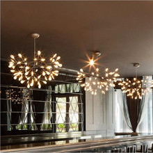 Moderna Decoración Del Hogar Creativo Restaurante Salón Comedor Araña Luciérnaga Luciérnaga Luces de Suspensión Envío Libre