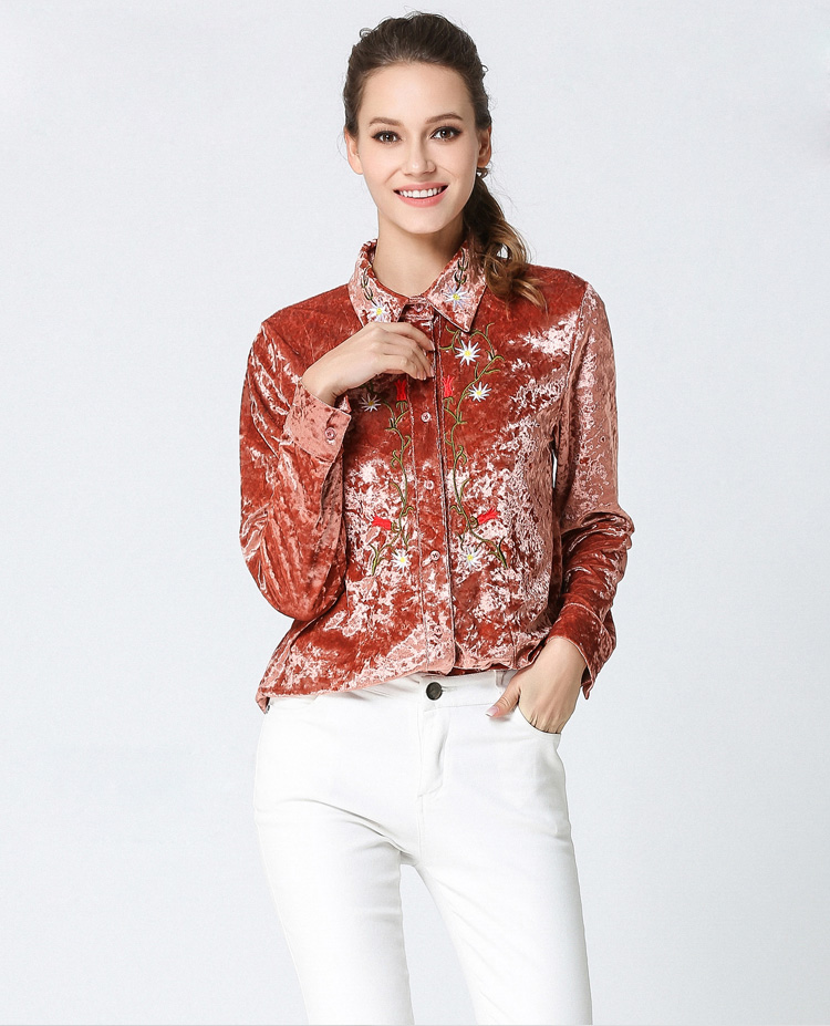 c1198918af5 Detail Feedback Questions about Willstage Women Velvet Shirts Floral ...