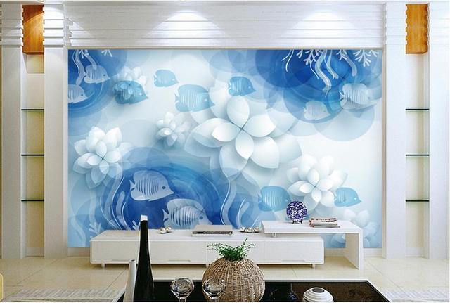 Customize Luxury Wallpaper Simple Underwater World 3d Wall Murals Home Decor Living Room Modern