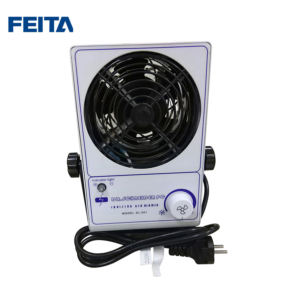 FEITA SL-001 Small Electric Ionizer Air Fan Desktop Eliminating Ionizing Air Blower ESD Static Electricity Eliminator sl 001 pc esd ionizer fan esd ionizing air blower